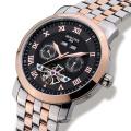 Роскошные мужские часы Tourbillon Waterproof Date Week Нержавеющая сталь Автоматические механические наручные часы Relogio Masculine