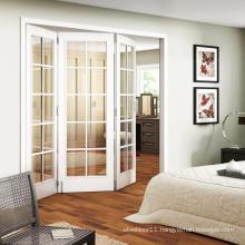Exterior glass folding Wooden door