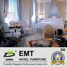 Blanco Color Hotel de lujo Dormitorio conjunto de muebles (EMT-SKB16)