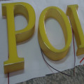 Epoxy Resin Gel Fyllda LED Letters Signs