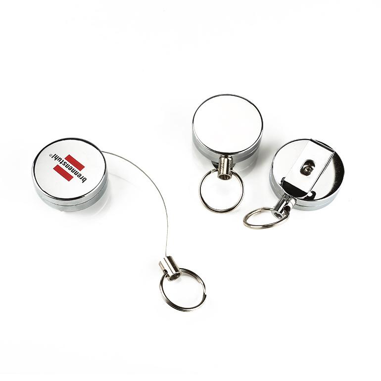 Porte-badge à bobine rétractable et robuste, article de cadeaux de promotion d'affaires pas cher avec votre logo ou votre nom