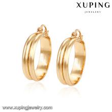 91584 free size environmental copper simple graceful gold hoop earring designs for women
