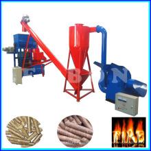 Pequeña capacidad 500kg / H de biomasa aserrín madera pellet máquina Precio