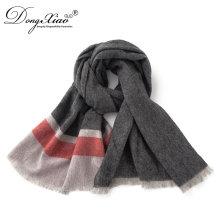 100% véritable écharpe pakistanaise de cachemire de capacité a placé le vrai écharpe de cachemire pour les hommes