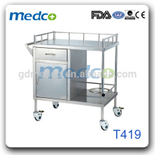 T419 Stainless steel material medical equipment trolley