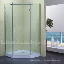 Gabinete de chuveiro de aço inoxidável de alta qualidade para chuveiro com bandeja baixa (LTS-011)