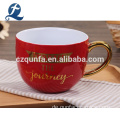 China Hersteller Bulk Steinzeug Sublimation Suppe Tasse Kaffeebecher