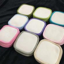 Cotton Remover Pads Reusable Bamboo Box White Logo