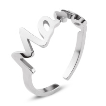 Adjustable Stainless Steel Finger Ring Simple Mom's Birthday Mother Day Jewelry Gift for Women
