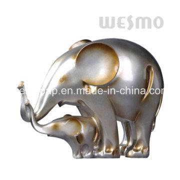 Elefante del bebé y estatua de Polyresin del elefante de la madre (WTS0005B)