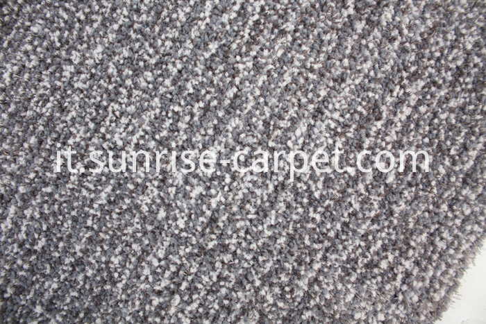 Microfiber with viscose short pile carpet grey color