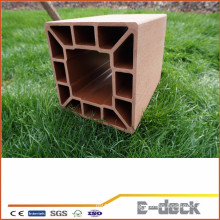Easy install high quality garden wpc fence post wpc panel wpc pillan