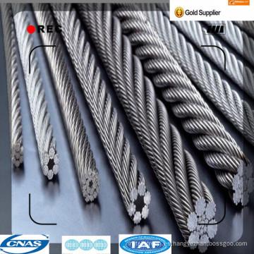 1 * 7 hilos de baja relajación galvanizado Strand ASTM A475 B498