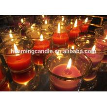 Fabricante de velas de vidrio perfumado / velas perfumadas con jarra de cristal / velas de vidrio