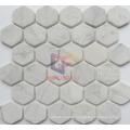 Matt White Marble Hexagon Shape Mosaic (CFS1067)