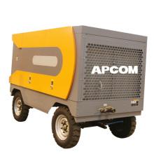 APCOM High Pressure Diesel Powered 15 bar 500 cfm portable diesel screw air compressor for drilling rig