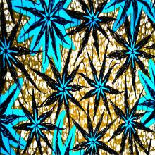 Гладкая ткань из полиэстера с африканским восковым набивным рисунком против морщин