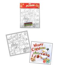 Rompecabezas creativo del rompecabezas de papel del rompecabezas de la pintura del diseño de la Navidad