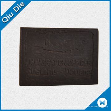 Black PU Metarial Leather Patches for Man′s Sporting Clothing