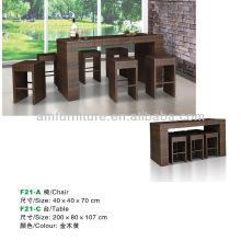 обеденный стол и стул из ротанга