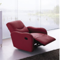 Multi-fungsi Recliner Headrest Single Red Leather Sofa