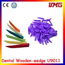 Espacio dental Cuña de madera Material dental desechable