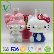 Personalizado de alta qualidade PP shampoo vazio garrafa de plástico fofa com logotipo
