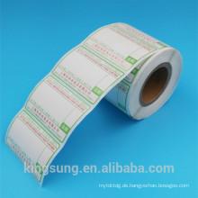 Entwurfs-Preisschildaufkleber des Großkundenpapiers vor für Supermarkt