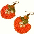 Hot Fashion 100% Cotton Crochet Earring Flowers