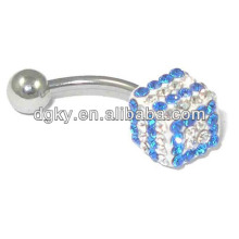 Personalized crystal dice belly button rings body jewelry