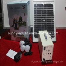 Lumière solaire du système 10W pour l'usage d'urgence à la maison