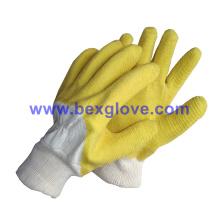 Tc Twill Liner, Tc Knit Handgelenk, Latex Coating, Ripple Styled Crinkle Finish Handschuh