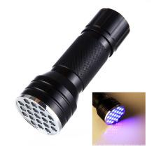 24LED Ультрафиолетовый проблесковый свет Черный свет факел
