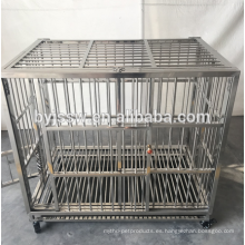 2018 nuevo diseño de acero inoxidable para mascotas perro jaula precio