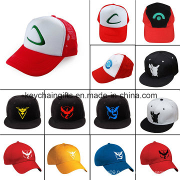 Chapeau de baseball de logo de broderie d'Anime Go Ash Ketchum