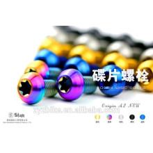 Boulons de freins en titane bleus anodisés pour vélo pour frein à disque shimano xtr