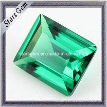 Piedra sintética verde esmeralda floja Nano Spinel