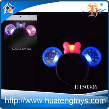 2014 Fuuny Kid's Festival blinkt LED leuchtet Spielzeug, leuchten Plastik Mickey Haarnadel Spielzeug zum Verkauf H150306
