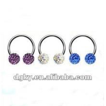 El grano cautivo del diamante caliente de la venta suena el anillo de herradura de la ceja