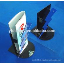 Bodenständer Acryl verstellbarer Prospekthalter