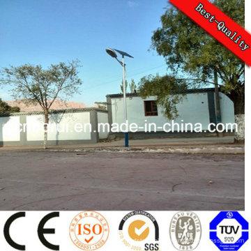 Réverbère solaire de 100W LED avec le panneau de module de PV mono de 2PCS * 150wp