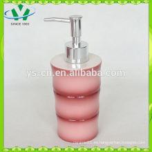 Dispensador de cerámica de bambú rojo de la loción para el sistema del cuarto de baño, accesorios del cuarto de baño