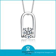 Herzform Sterling Silber Halskette für Frauen (N-0089)