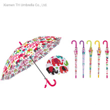 Fashion Children Poe Umbrella with Animal Printing/Cute Auto Gift Kid Umbrella with Whistle