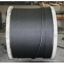 Cuerda de alambre de acero galvanizado 11mm-20mm 6X19 6X37