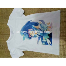 Promotional cheap white T shirt digital printing custom T shirt