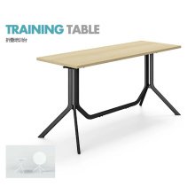 Rectangular Shape Small Conference Table with Metal Frame Base