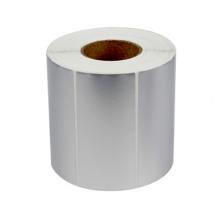 NX163 custom  matte Silver Sticker paper Printed Thermal Transfer Polyester matte Silver label