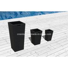 Rattan Flower Pots for Outdoor & Indoor & Garden with Aluminum / SGS