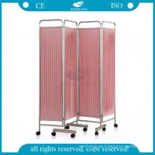 AG-SC001 Movable hospital room metal frame fabric folding screen